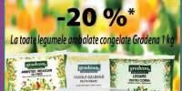 20% la toate legumele ambalate congelate Gradena 1kg