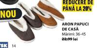 Papuci de casa Aron