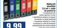Biblioraft plastifiat 7.5 centimetri + cutie de protectie