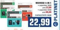 MicroSD 4 in 1 Platinet