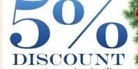 5% discount la cumpararea cosului de sarbatori!