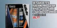 Set Gillette Fusion Pro Glide After Shave + Gel de ras