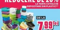 20% reducere la toate cutiile de depozitare din plastic