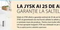 25 de ani garantie la saltelel Jysk!