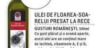 Ulei de floarea-soarelui presat la rece Gusturi Romanesti
