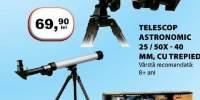 Telescop astronomic 25/50x - 40 milimetri, cu trepied