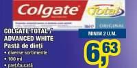 Colgate total/advanced white
