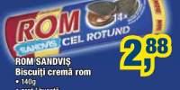 Biscuiti crema rom Rom Sandvis