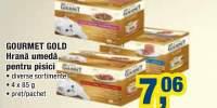 Gourmet Gold hrana umeda pentru pisici 4x85 grame