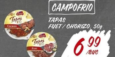 Tapas Fuet/ chorizo Campofrio