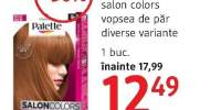 Vopsea de par salon colors Palette
