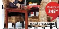 Brovst/ Torrig set masa si patru scaune