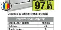 Fereastra PVC 3 camere alba