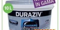 Vopsea lavabila antibacteriana Duraziv alba 10 L