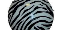 Plafoniera Zebra sticla alb-negru