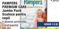 Jumbo pack scutece pentru copii Pampers Premium Care