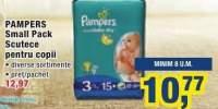 Scutece pentru copii Pampers small pack