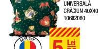 Perna decor universala Craciun 40x40 centimetri