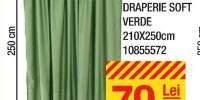 Draperie soft verde 210x250 centimetri