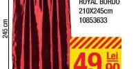 Draperie Tafta Royal bordo 210x245 centimetri