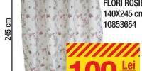 Draperie Flagora Flori rosie 140x245 centimetri