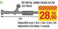 Kit metal 20 milimetri crosa AG 2 metri