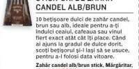 Stick-uri de zahar candel alb/brun