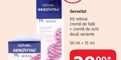 Gerovital H3 Retinol crema de fata + cerma de ochi