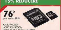Card Micro SDHC Kingston 32GB clasa 10 cu adaptor