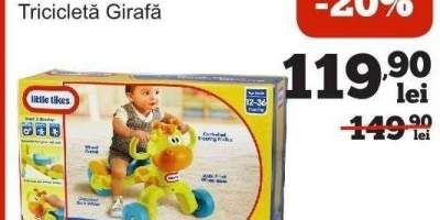Tricicleta Girafa Little Tikes