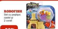 Set cu pestisor, castel si 2 corali Robofish