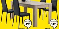 Masa si scaune Hasle/Toreby