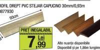 Profil drept PVC Stejar Capucino