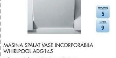 Masina de spalat vase incorporabila Whirlpool ADG145
