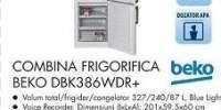 Combina frigorifica Beko DBK386WDR+