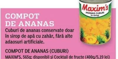 Compot de ananas Maxim's