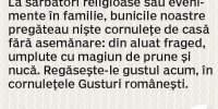 Cornulete cu magiun de prune si nuca Gusturi Romanesti