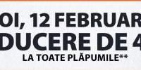 Joi, 12 februarie reducere de 40% la toate plapumile