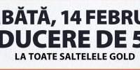Sambata, 14 februarie reducere de 50% la toate saltelele Gold