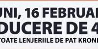 Luni, 16 februarie, ai reducere de 40% la toate lenjeriile de pat Kronborg
