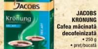 Cafea macinata decofeinizata Jacobs Kronung