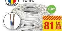 Cablu electric MYYUP HO3 VVH2-F 2x0.75