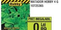 Seminte spanac Matador, Hobby