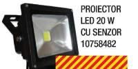 Proiector LED 20 W cu senzor