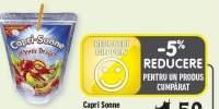 Capri Sonne suc portocale/ capsuni-banane