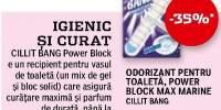 Odorizant pentru toaleta Power Block Max marine