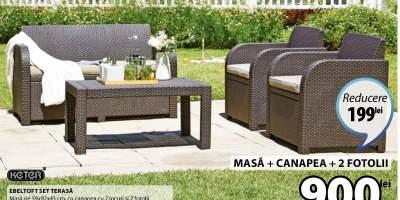 Masa + canapea + 2 fotolii Ebeltoft