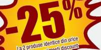25% reducere la cumpararea a doua produse identice Zewa