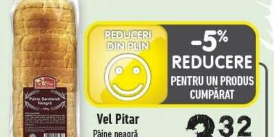 Paine neagra sandwich Vel Pitar
