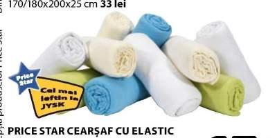 Cearsaf cu elasticn Price Star